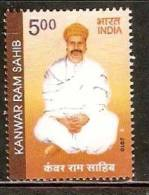 India 2010 Kanwar Ram Sahib Religions Saint Poet Music 1v MNH Inde Indien - Musique