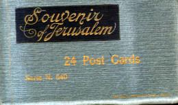 Old Postcard Book Of 24 Complete : Souvenir Of Jerusalem, Superior Range Of Scenes,wailing Wall, - Palestine