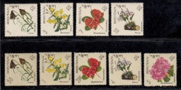 Bhutan MNH Scott #85-#85H Set Of 9 Flowers - Bhoutan