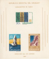 Uruguay MNH Scott #C267a Imperf Souvenir Sheet Of 3 UNESCO World Campaign To Save Nubia Monuments - Uruguay