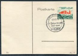 1940 D.Reich Helgoland 50 Jahre Deutsche Postkarte - Briefe U. Dokumente