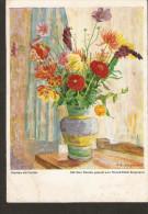 5k. Flora Flowers Bouquet Painting ART Dennoch Kunstlerkarte Kunst D. Schwerbeschadigten Blumen Am Fenster - Unclassified