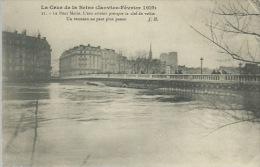 L´inondazione Della Senna - Gennaio Febbraio  1910-cartolina Francese  Non Viagg. Piega Angolo Dx  Alto - Inondazioni