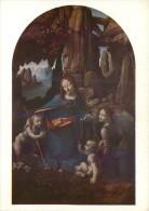 Leonardo Da Vinci  The Virgin Of The Rocks National Gallery London Art Postcard #2 - Paintings