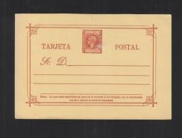 Espana Filipinas Tarjeta 1898-99 - Entiers Postaux