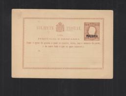 Portugal Madeira Stationery Black Overprint - Postal Stationery