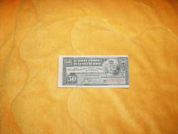 ANCIEN BILLET DE 50 CINCUENTA CENTAVOS DE CUBA / EL BANCO ESPANOL DE LA ISLA DE CUBA / ANNEE 1896. / N°0935568. - Cuba