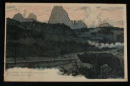 CPA RUSSIE CROIX-ROUGE La Montagne Lama Chane 1900 Illustrateur Chine Mandchourie - Rusia