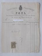 COIFFURE PARFUMERIE PAUL: Facture 1886 Fournisseur De S. M. Le Roi Des BELGES (Avenue Des Champs-Elysées) - 1800 – 1899