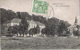 AMSTETTEN 09 32457 VOLKS UND BURGER SCHULE 1912 - Amstetten
