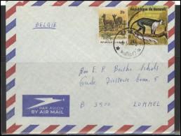 BURUNDI  Brief Postal History Envelope Air Mail BI 002 Fauna Animals - Burundi