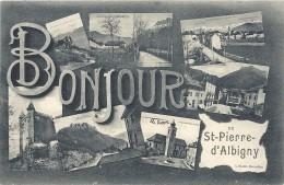 73 - Bonjour De St-PIERRE-d'ALBIGNY - Carte Multivues Ayant Circulé, Peu Courante. - Saint Pierre D'Albigny
