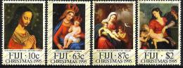 FIJI ISLANDS CHRISTMAS WOMAN CHILD  SET OF 4 ISSUED 1995 MINT SG? READ DESCRIPTION !! - Fidji (1970-...)