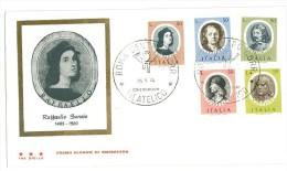 ITALIA FDC TRE STELLE - UOMINI ILLUSTRI -  ANNO 1974 - 6. 1946-.. Republik