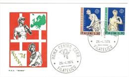 ITALIA FDC ROMA - EUROPA CEPT - ANNO 1974 - FDC