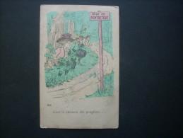 Illustration Scatologie  - Allée De Montretout, C'est La Chanson Des Peupliers -   CIRCULEE 1910 L149 - Humour