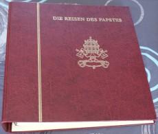 Très Bel Album Georg Roll Vide Pour Classer Les Cartes Enveloppe Fdc Du Voyage Des Papes - Matériel