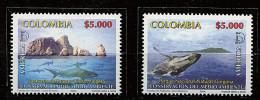 Colombie ** N° 1308/1309 - Série 'America'Upaep. Baleine, Requins-marteaux - Colombia