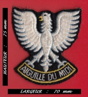- Ecusson Aiguille Du Midi - Aigle - 75 Mm X 70 Mm - Ecussons Tissu