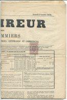 "N°7  +  Journal ""L' ECLAIREUR""  (de Coulommiers, Seine Et Marne), 9 Juillet 1870 - Zeitungsmarken (Streifbänder)"