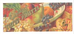 """St Laurent """" Tutti - Frutti """"  Etiquette - Label N.V. DE VREESE - VAN LOO, Lokeren  (b139) - Publicités"""