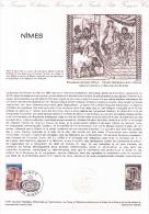 Joli Lot De 3 Documents Philatéliques Premier Jour, Nîmes, Maison Carrée, 1981 - Documentos Del Correo