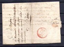 France 1827, Lettre De Provins Vers Paris - Marcophilie (Lettres)