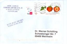 BRD BZ 04 TGST FRW 2013 Mi. 2770 Erdbeere + Mi. 2967 3 C. Ergänzungsmarke Brief - [7] Federal Republic