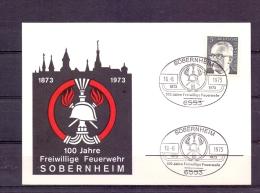 Deutsche Bundespost - 100 Jahre Freiwillige Feuerwehr Sobernheim 10/6/1973 (RM3957) - Sapeurs-Pompiers