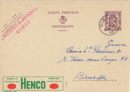PUBLIBEL 910°: ( HENCO ) : WASPRODUCT,LESSIVE,WASHING-POWDER, - Stamped Stationery