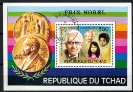 Tschad 1976 – N´DJAMENAL, Mi Block (o) A. FlemmingZustand: Gut - Nobel Prize Laureates