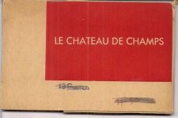 Carnet 12 CP  (77)   Le Château De CHAMPS  - - France