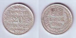 Tunisia 20 Francs 1934 - Tunisie