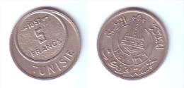 Tunisia 5 Francs 1957 - Túnez