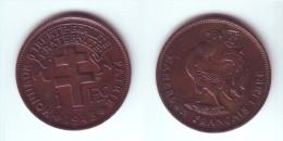 Cameroon 1 Franc 1943 - Cameroun