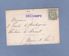 Enveloppe Ancienne Avec Timbre - Chambre Des Députés ( Voir Verso ) - Pour ANGERS - 1902 - Député Assemblée Nationale - France