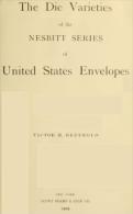 """EBook: """"Die Varieties Of The Nesbitt Series Of US Envelopes"""" - Literatura"""