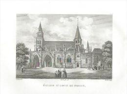 GRAVURE Du XIXe SIECLE... Eglise Saint Louis De POISSY (78)... Dessin De Civeton - Estampes & Gravures