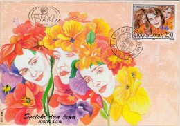 YUGOSLAVIA 1998 International Women's Day FDC.  Michel 2853 - FDC