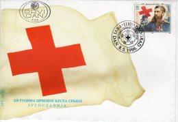 YUGOSLAVIA 1996 Serbian Red Cross Centenary  FDC.  Michel 2779 - FDC