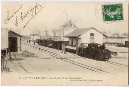 CPA 36 Valençay, La Gare Vue Générale - Non Classés