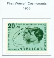BULGARIA  -  1963  Air  Women Cosmonauts  Mounted Mint - Neufs