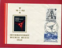 VIGNETTE AUTRICHE 1962 FOIRE INTERNATIONALE DE VIENNE EN SUPERBE ETAT WIEN MESSE - Erinnophilie