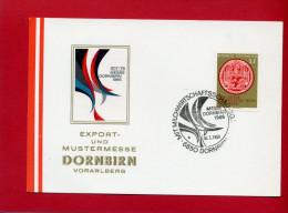 VIGNETTE AUTRICHE 1966 FOIRE DE DORNBIRN MESSE EN TRES BON ETAT - Erinnophilie