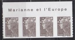 = Marianne Beaujard Autocollant Boutique Pro Haut De Feuille Du  0.05 € X4  N°209 Bistre-noir Type Du 4227 Gommé - 2008-13 Maríanne De Beaujard
