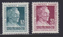 Frz. Zone Württemberg MiNr. 47-48 ** - French Zone