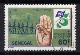 SENEGAL - N° 607° - 75è ANNIVERSAIRE DU SCOUTISME - Senegal (1960-...)