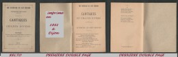 Cantiques Et Chants Divers - 32 Pages - Imprimé En 1891 - - Religión & Esoterismo