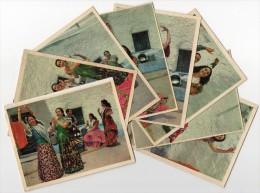 Sevillanas Los Anaya En Sacromonte Dance Flamenco Set Of 8 Vintage Original Postcard Cpa Ak (W3_3266) - Baile