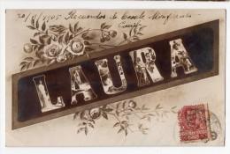 Firstname LAURA Carte Postale Victorian Woman Photo Vintage Original Postcard Cpa Ak (W3_3355) - Vornamen